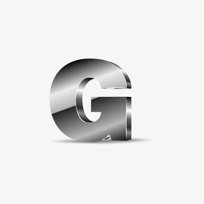 650x651 Silver Black Letters G, Black Vector, Silvery, Black Png And