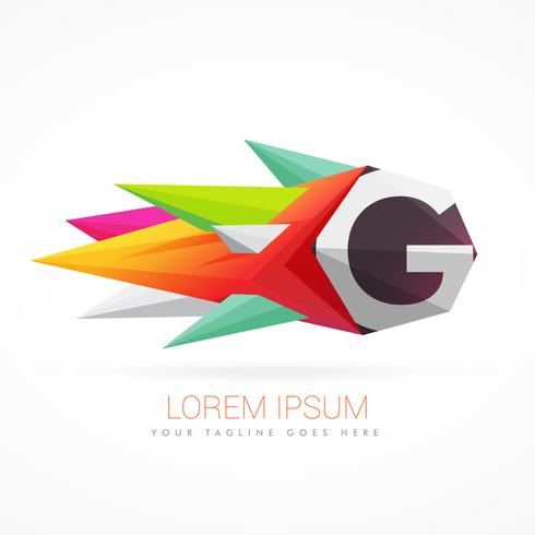 490x490 Colorful Abstract Logo With Letter G