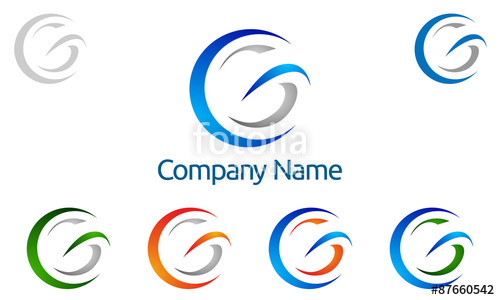 500x300 G, G Letter, Vector, Logo, Design Stock Image And Royalty Free