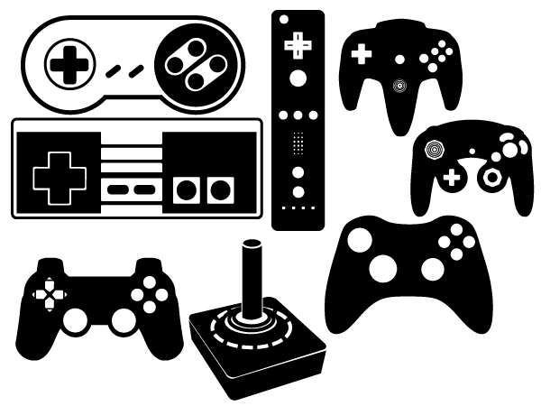 600x450 Game Controller Vector Set 123freevectors