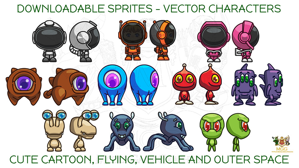 960x540 Downloadable Sprites