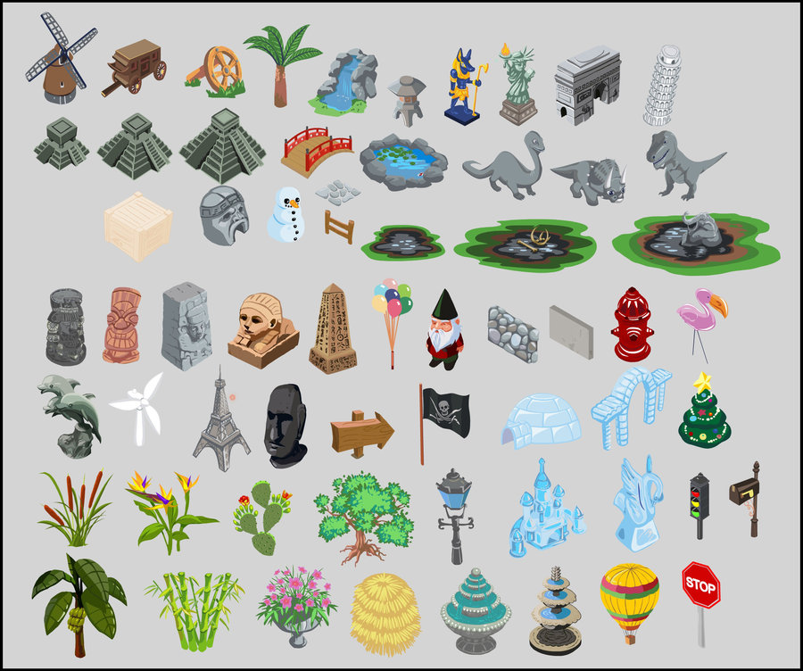 900x752 Happy Island Vector Asset Assortment By Concept Art House On