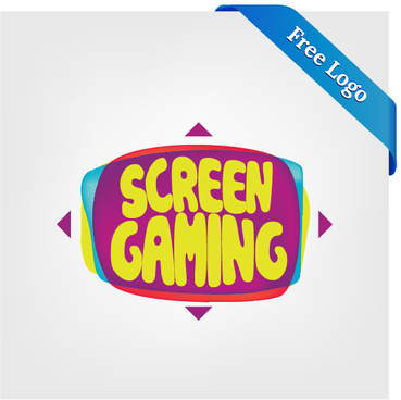 369x368 Free Vector Large Screen Display Video Game Logo Png Images