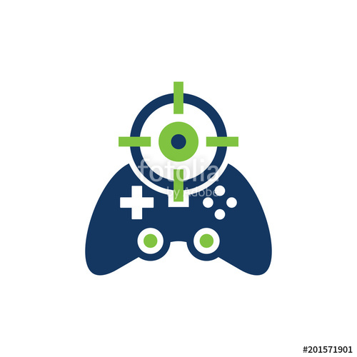 500x500 Game Target Logo Icon Design Stock Image And Royalty Free Vector