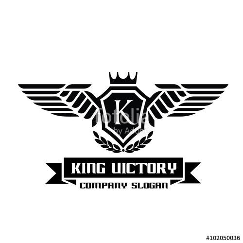 500x500 King Victory Logo,crest Logo,hotel Logo,game Logo,vector Logo