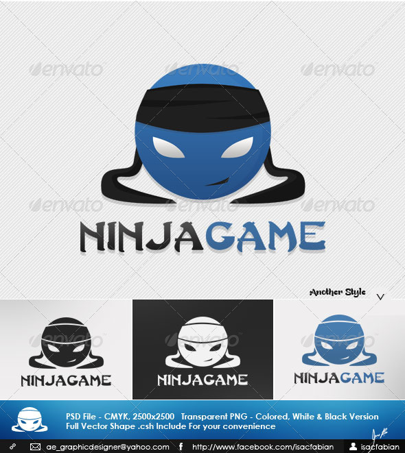 590x661 Ninja Game Logo Template By Isacfabian Graphicriver