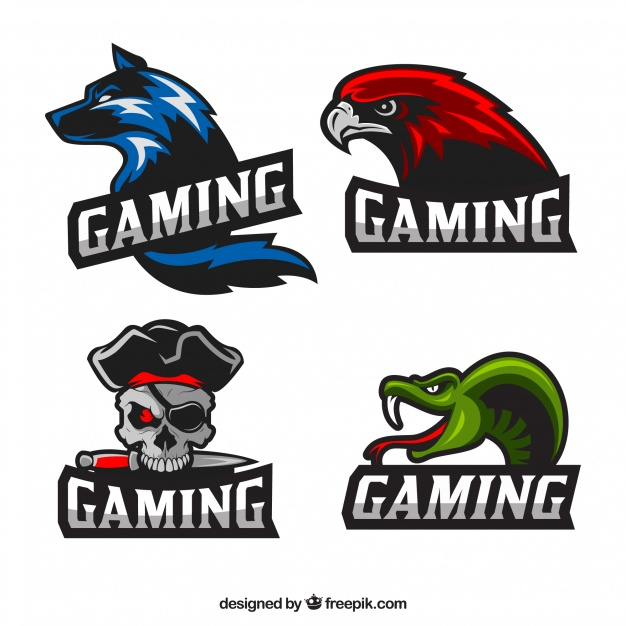 626x626 Video Game Logo Collection With Flat Design Vector Free Download