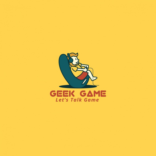 626x626 Video Game Logo On A Yellow Background Vector Free Download