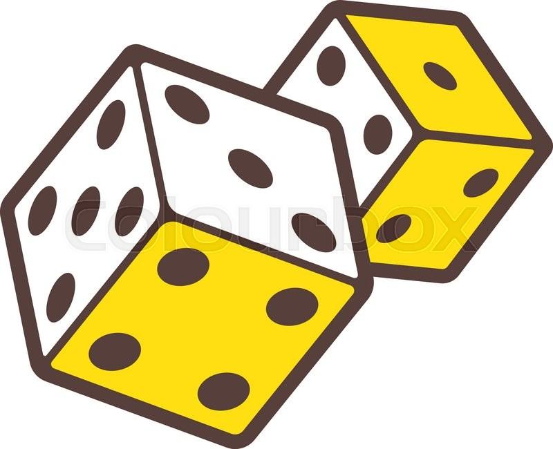 800x650 Dice Game Logo. Casino Logotype. Dice Symbol Isolated On White