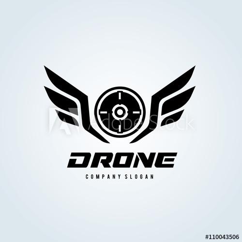 500x500 Drone Logo,wing Logo,game Logo,vector Logo Template.