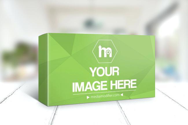 650x433 Horizontal Paper Box On Wood Surface Generator Medicine Template