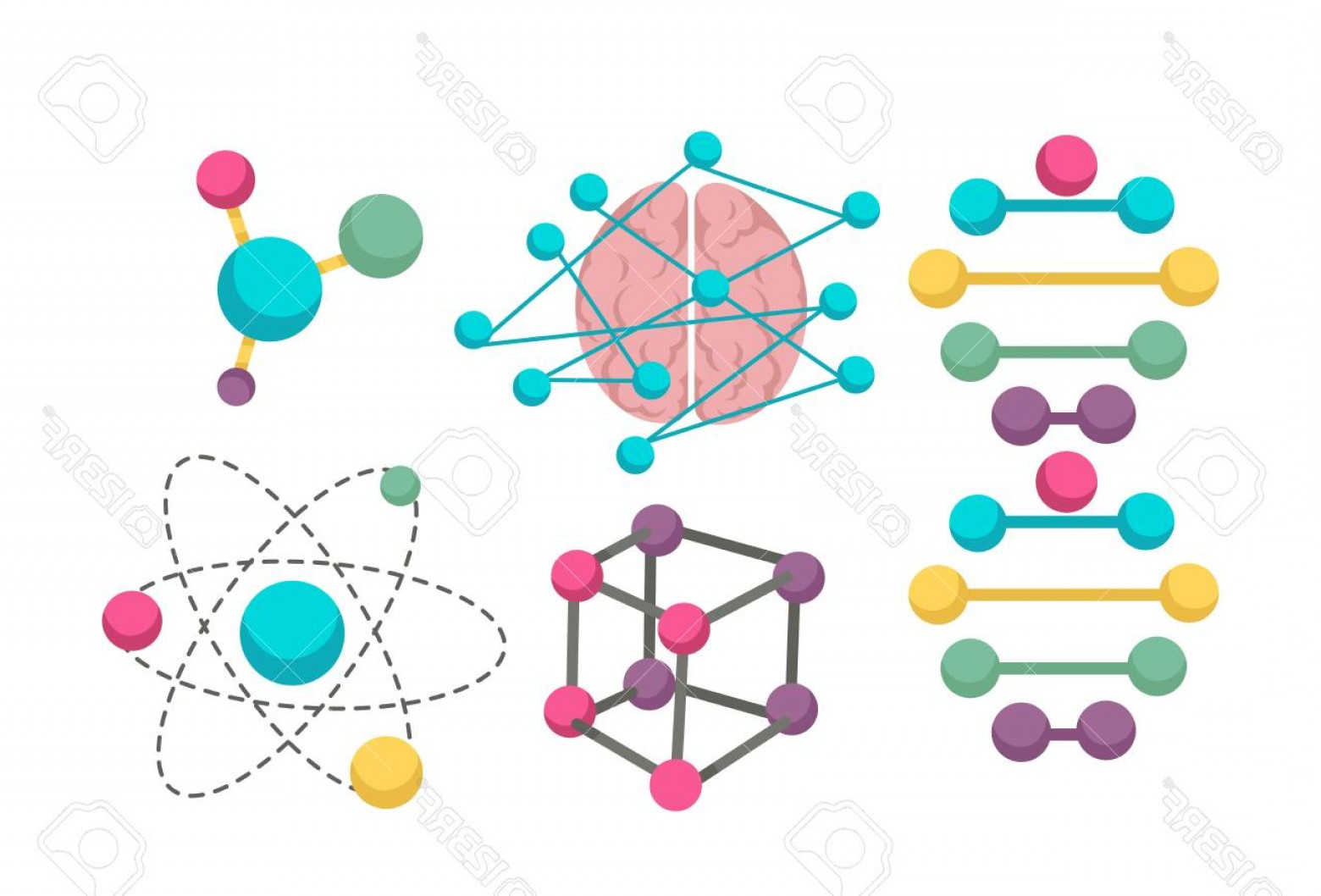 1560x1058 Photostock Vector Dna Molecule Vector Icons For Science In