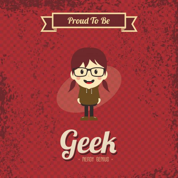 626x626 Genius Geek Retro Cartoon Vector Premium Download