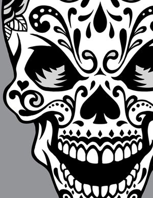 300x387 Sugar Skull Clipart Girly