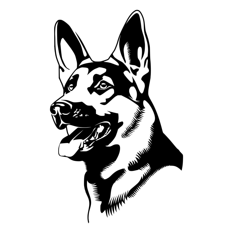 vector german shepherd at getdrawings  free download