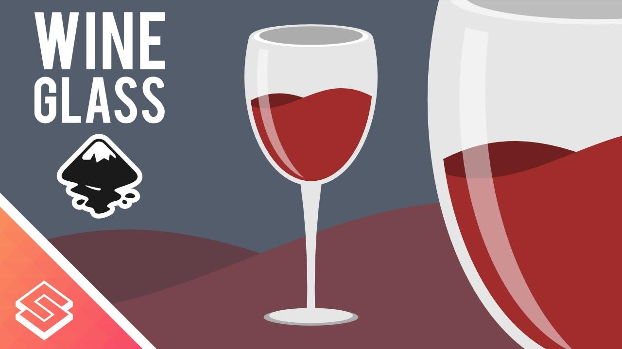 1280x720 Inkscape Tutorial Vector Wine Glass