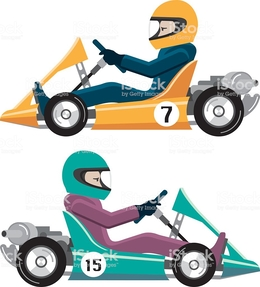 260x287 Download Vector Karting Clipart Kart Racing Go Kart Racing