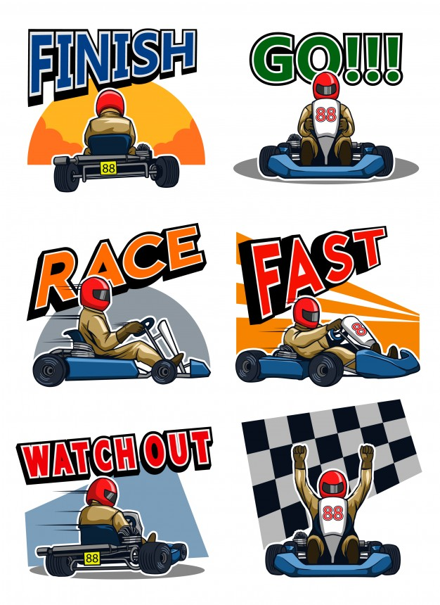 626x860 Gokart Racer Vector Premium Download