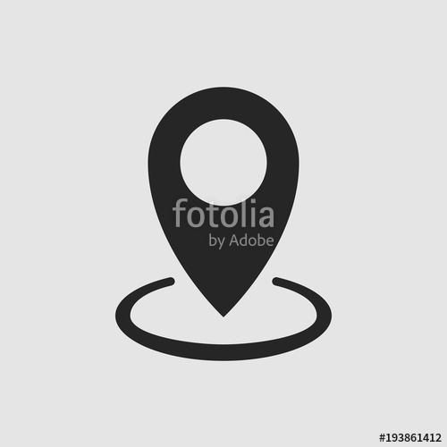 500x500 Gps Icon. Gps Vector Isolated. Flat Vector Illustration In Black