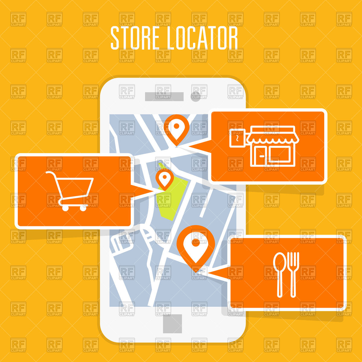 1200x1200 Store Locator Tracker On Smartphone