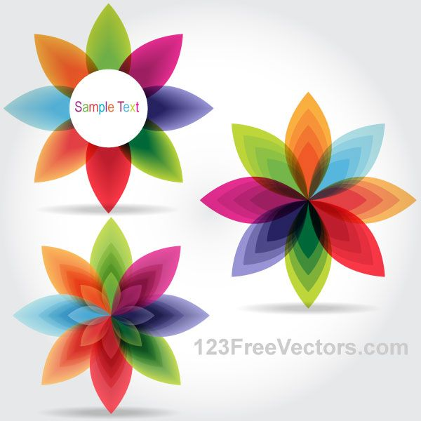600x600 Colorful Fantasy Flowers Vector Graphics Vector
