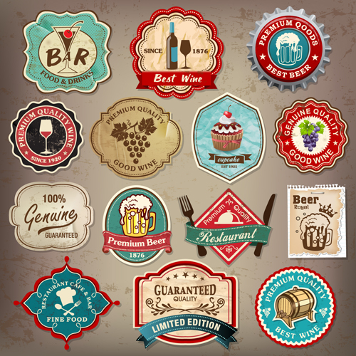500x500 Different Retro Labels Mix Vector Graphics 04 Free Download