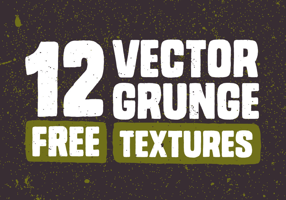 1000x700 12 Free Vector Grunge Textures To Erode Your Artwork