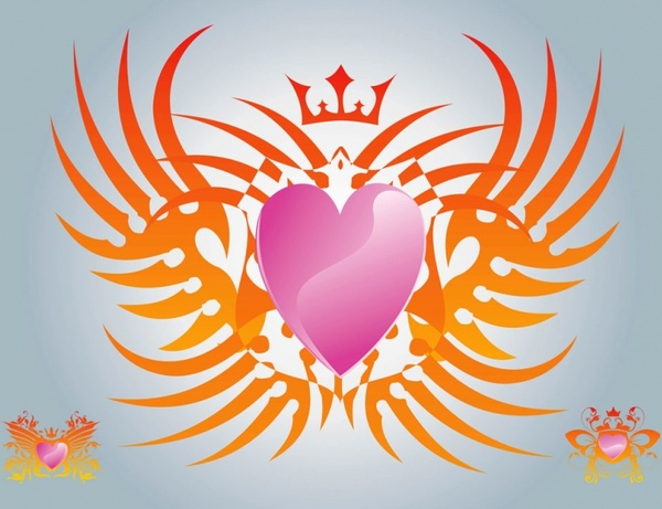 600x461 Free Heart Vector Graphics Free Vector In Adobe Illustrator Ai