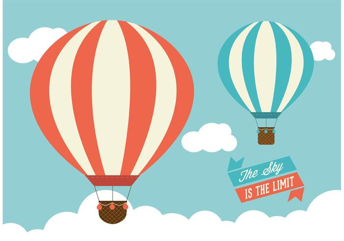 700x490 Hot Air Balloons Vector Graphic