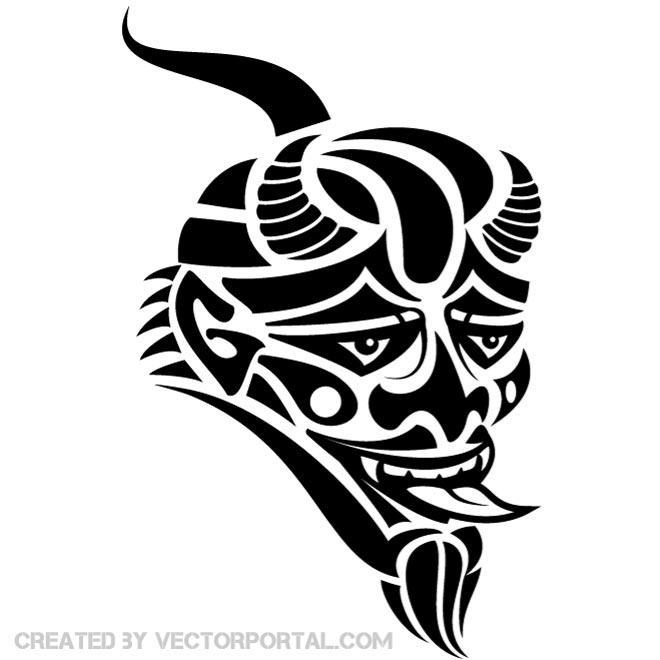 660x660 Mask Of The Devil Graphics Free Vector 123freevectors
