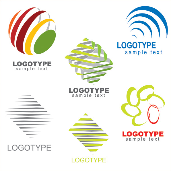 596x596 Variety Of Graphic Logo Template Vector Free Vector 4vector