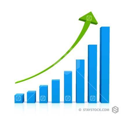 431x400 Upward Arrow Graph Vector Staystock