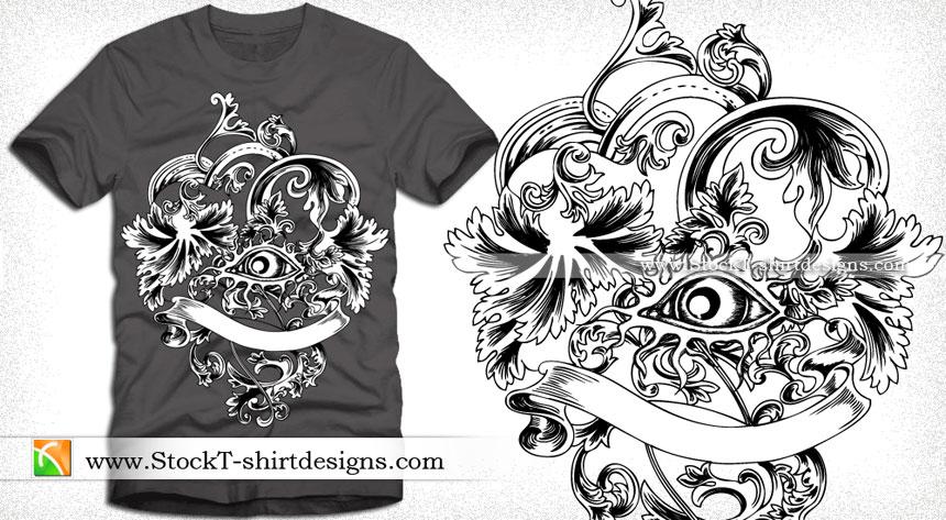 860x473 Floral Vector Illustration For T Shirt Design Vector T Shirt
