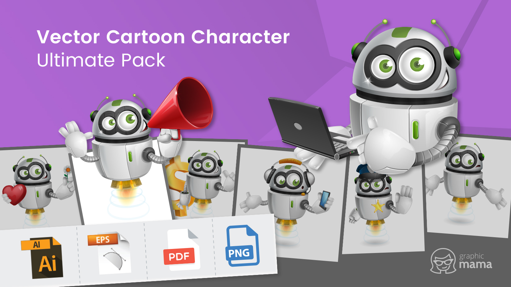 1652x928 Vector Cartoon Character Ultimate Pack By Graphicmama From A To Z