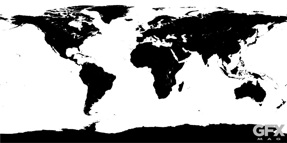 1200x600 World Map Vector Graphic Silhouette Free Ai Eps Free Download