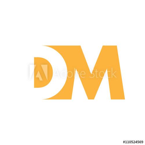 500x500 Dm Logo Vector Graphic Branding Letter Element Jpg, Eps, Path