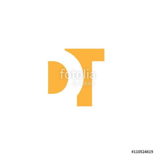 500x500 Dt Logo Vector Graphic Branding Letter Element Jpg, Eps, Path