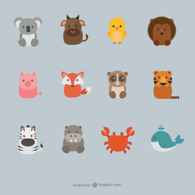 626x626 Cartoon Animals Vectors Free Vector Graphics Everypixel