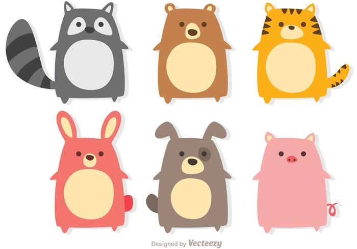 700x490 Cute Animals Vectors