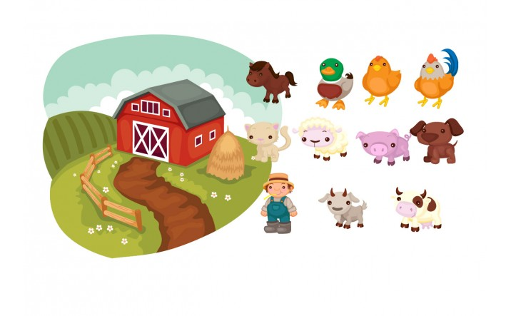 716x443 Farm Animals Vector Pack Vector Animals