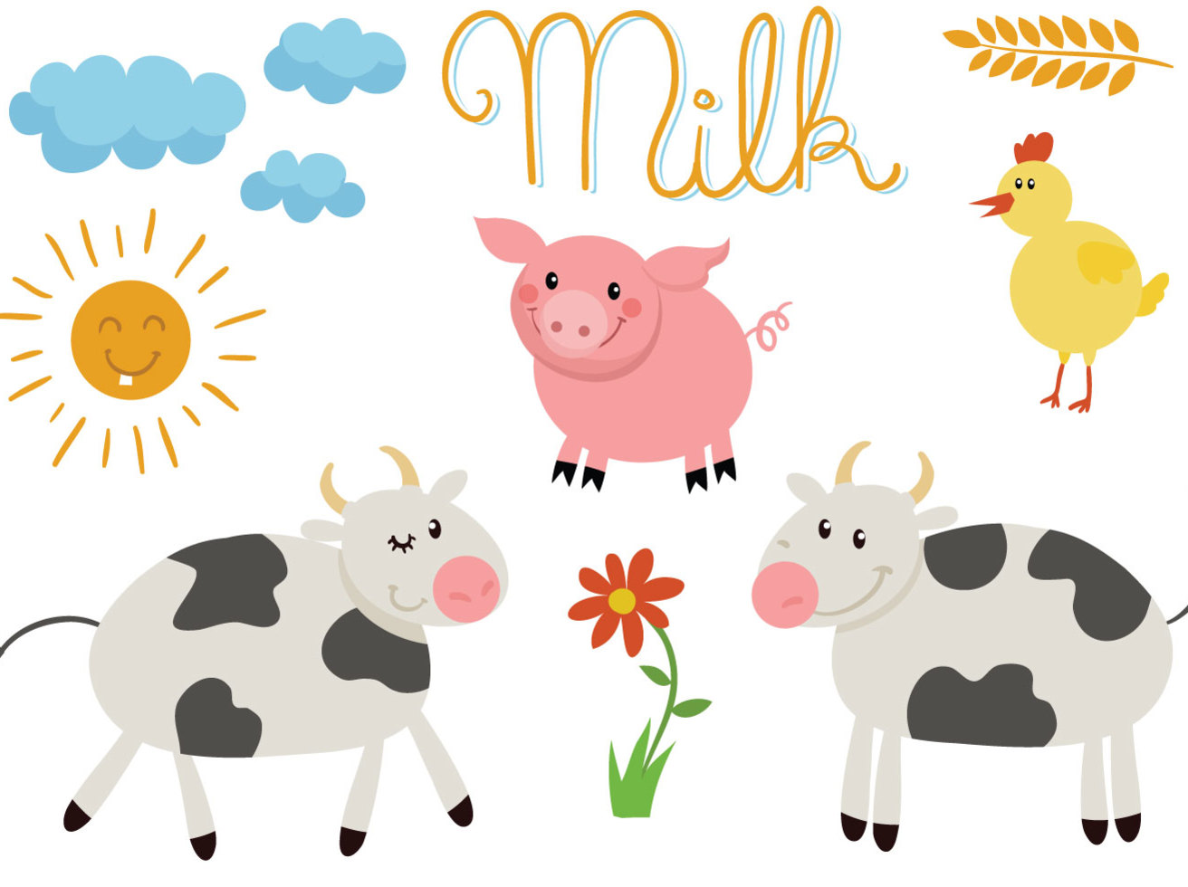 1312x980 Free Farm Animals Vectors Vector Art Amp Graphics