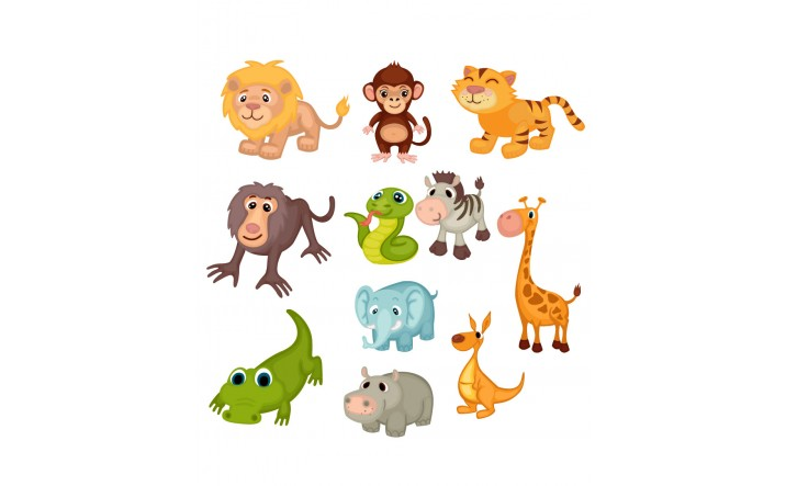 716x443 Wild Animals Vector Pack Zoo Safari Animals Vector