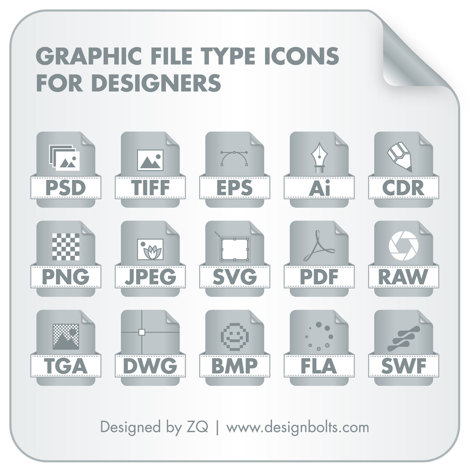 1536x1536 Graphic File Type Icons Set For Designers Pngs Amp Vector File