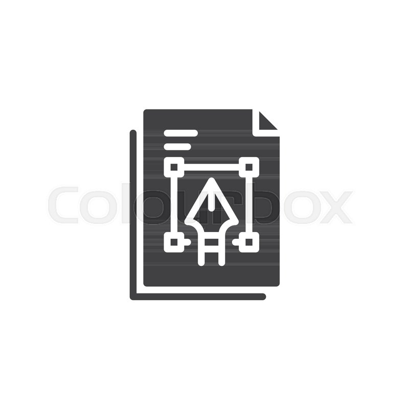 800x800 Graphic File Vector Icon. Filled Flat Sign For Mobile Concept And