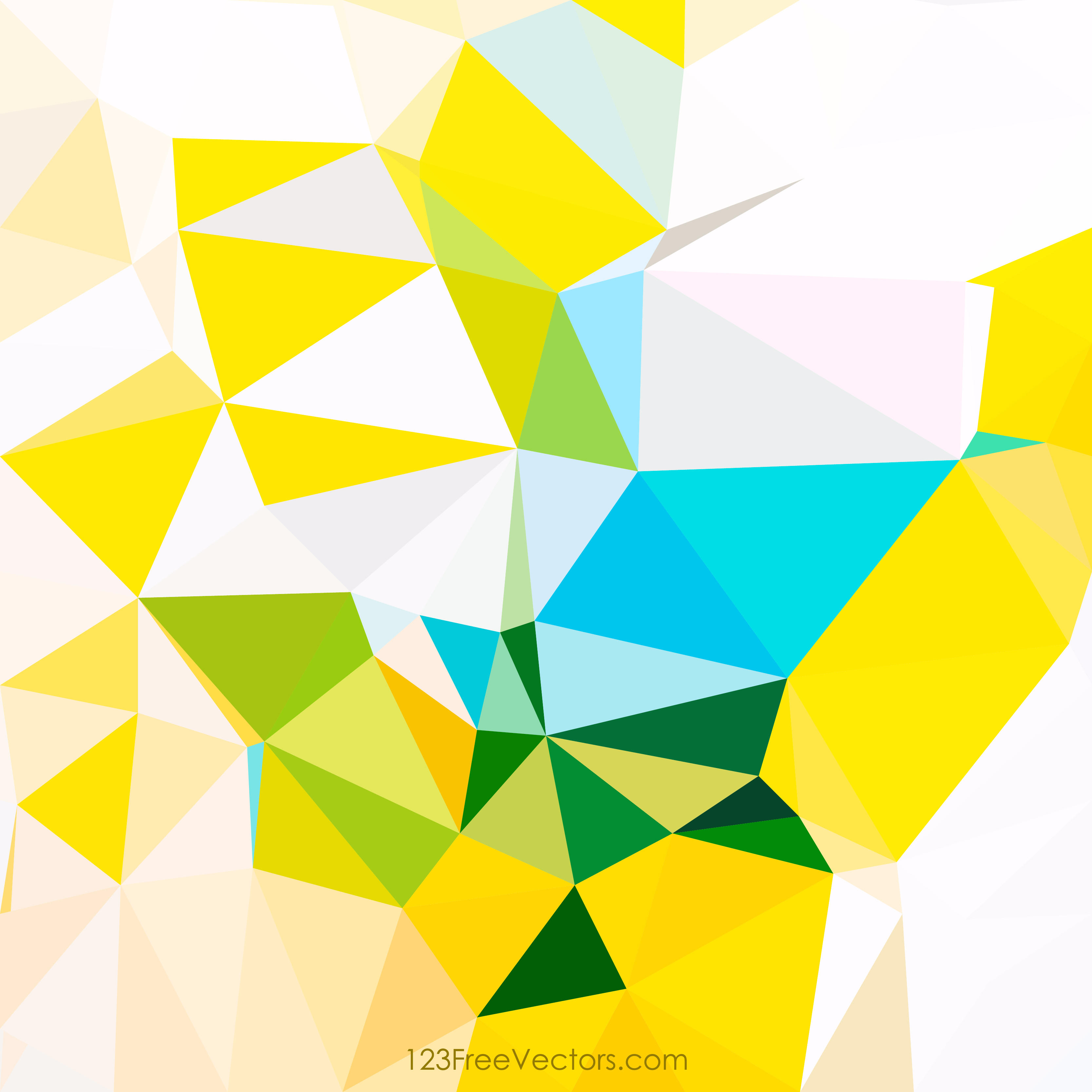 3333x3333 Low Poly Colorful Background Vector Graphics 123freevectors