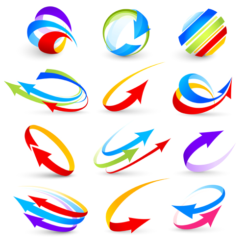 500x500 Abstract Colorful Arrows Vector Graphics Free Download