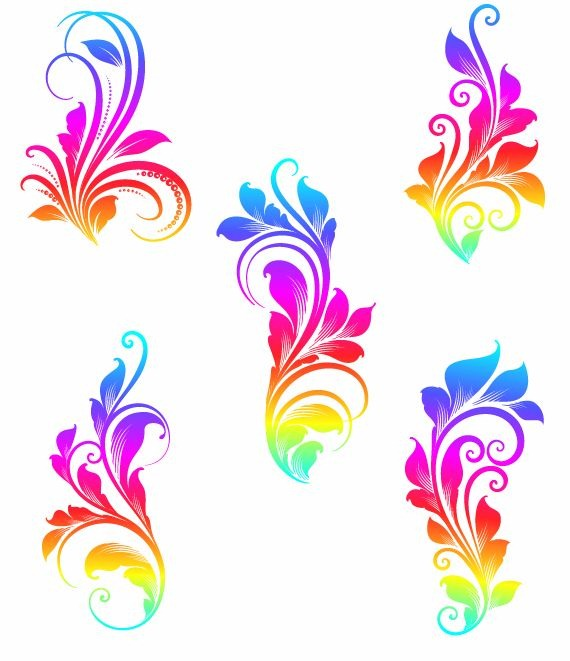 570x661 Colorful Swirls Vector Graphics Free Vector Graphics All Free
