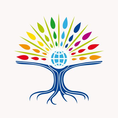 500x500 Creative Tree Logo Vector Graphics 02 Free Download