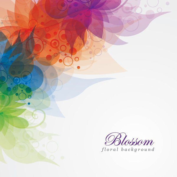 600x600 Blossom Floral Background Vector Graphic