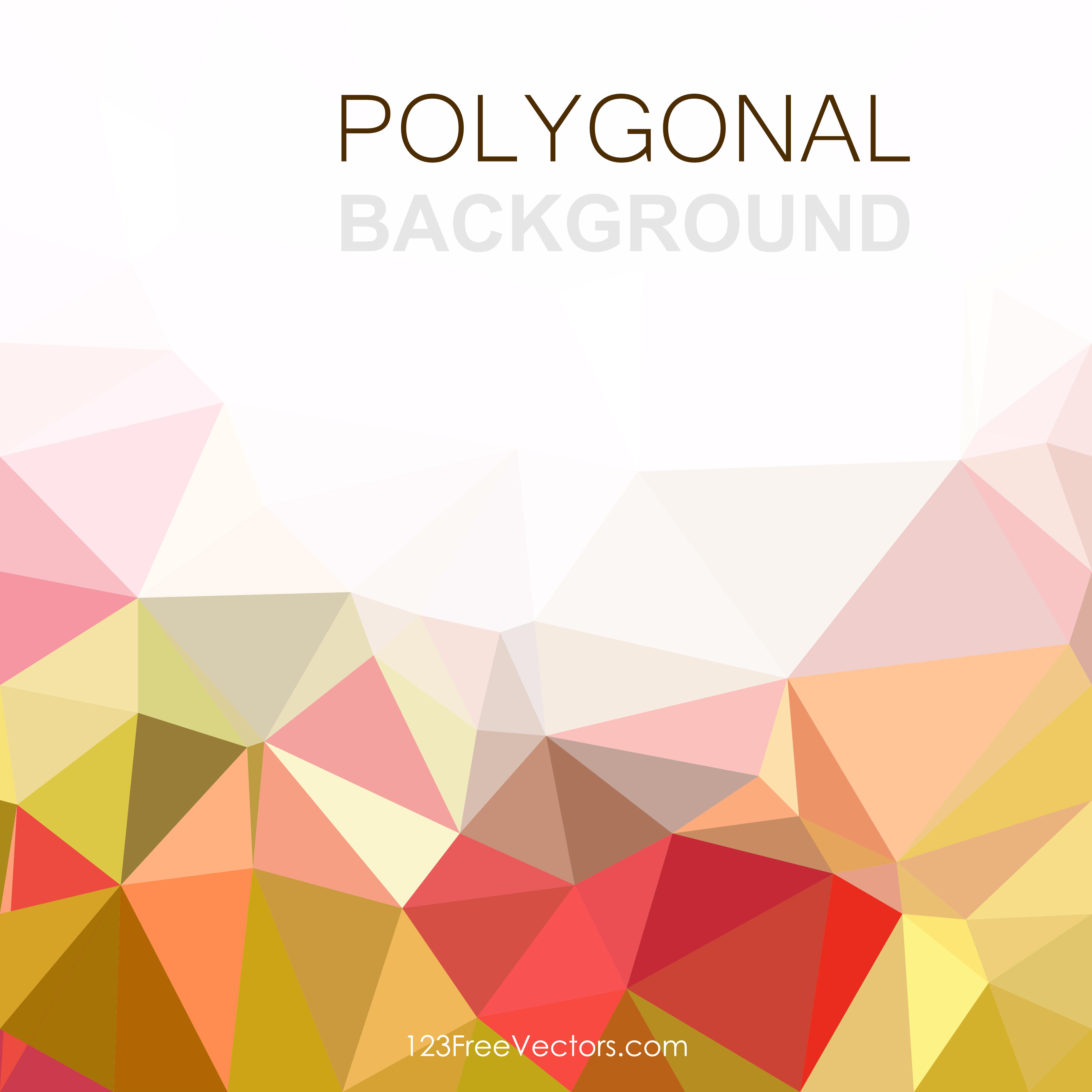 3333x3333 Colorful Abstract Geometric Polygon Background Vector Graphics